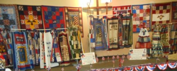 Patriotic Quilt Display