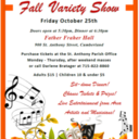 "St Anthony CCW ""Fall Variety Show"" Oct 25"