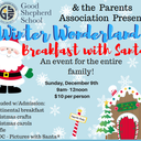 Mark your calendars... Breakfast with Santa on December 9th!