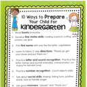 Information for the Upcoming Kindergarten Class