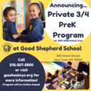 BIG NEWS: Announcing our Private 3/4 PreK Program for the 2021-2022 School Year!