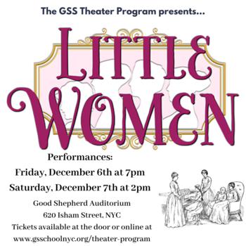 Little Women, our fall play -- Performances this weekend ONLY!