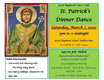 St. Patrick's Day Dinner Dance Invitation