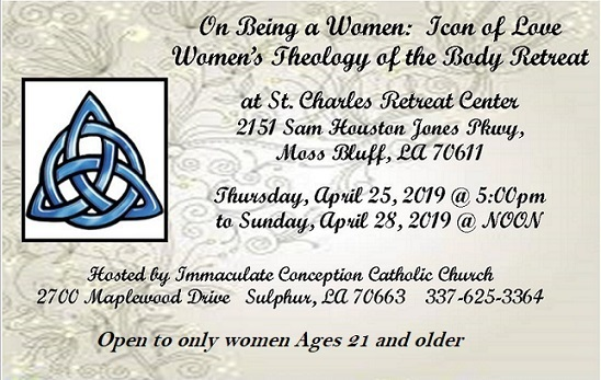Women's THeology Of the Body (TOB) RETREAT - Immaculate