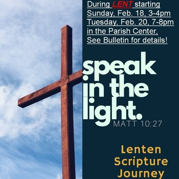 """Speak in the Light"" Lenten program"