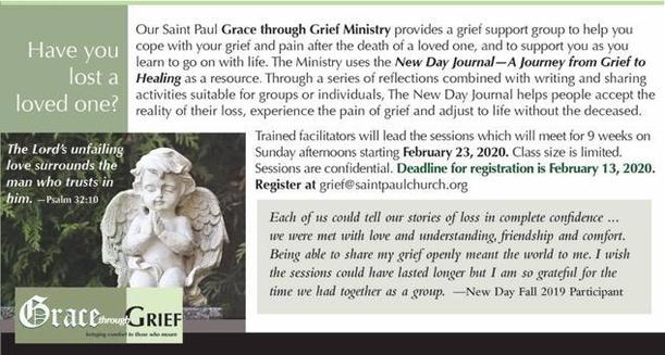 Fall 2019 New Day Grief Workshop