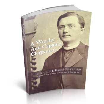 Historical book on Olean's first resident Catholic pastor