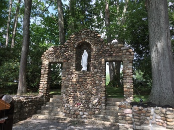 Our Lady of Lourdes Grotto rededicated and blessed