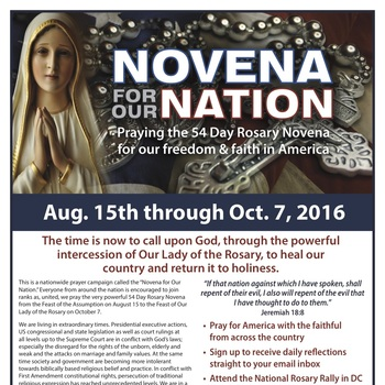 Novena For Our Nation