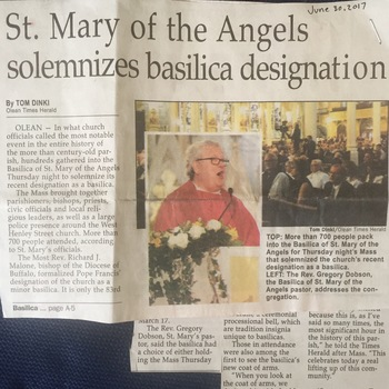 Inaugural Mass Solemnizing Designation as a Basilica