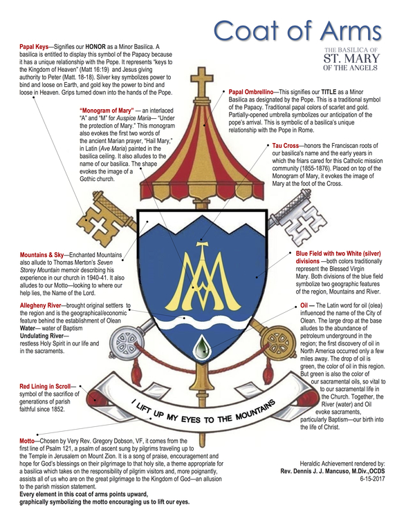 Basilica Of St Mary Of The Angels Coat Of Arms Olean Ny