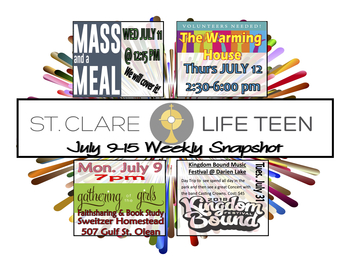 Youth Ministry Summer '18 WEEK 1 Schedule