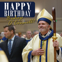 Bishop O'Connell celebrates his birthday on Easter Sunday