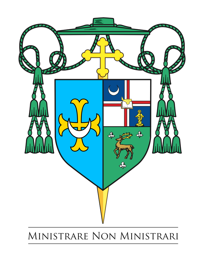 Shield of Bishop David M. O'Connell, C.M.