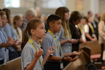 At annual Catholic Schools Mass, the subject is faith