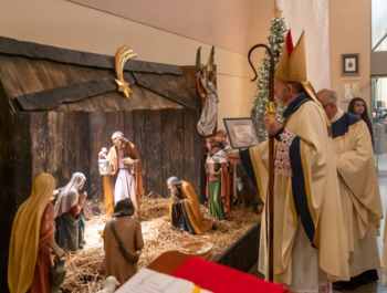 Bishop celebrated Christmas Mass, Pope released World Day of Peace message