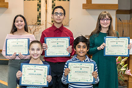 Mercer County Contest Winners received certificates