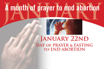 Diocese to mark Roe v Wade anniversary with Day of Prayer and Fasting to end abortion