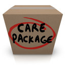 A few supplies still needed for care packages to be delivered to local individuals tomorrow.