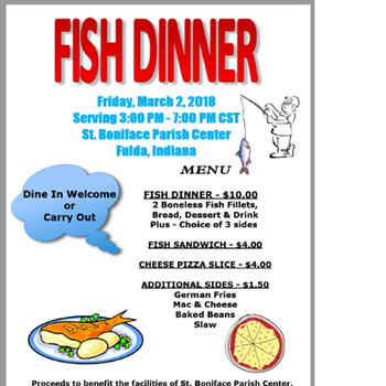 Fish Dinners - Friday, March 2