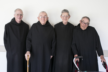 Four Saint Meinrad monks celebrate jubilees of profession