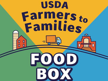 Farmers to Families Mobile Food Box Drive-Thru on March 16