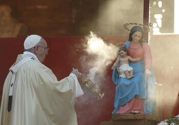 In times of trouble, church turns to prayer with Mary, theologian says