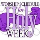 Holy Week Schedule of Livestream Events