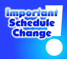 Evening Mass Changes This Week