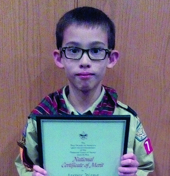 Sacred Heart Cub Scout earns National Certificate of Merit
