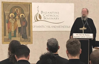 Orthodox archbishop, patristics scholar gives annual seminary lecture