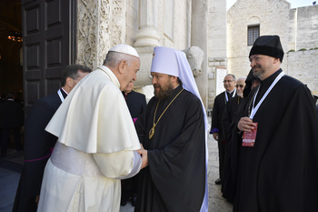 Pope gathers ecumenical leaders at tomb of St. Nicholas of Myra