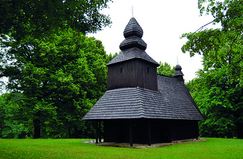Pilgrims to pray in traditional wooden church of Ruska Bystra