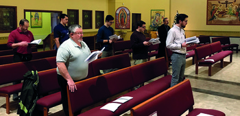 Twelve men gather for two-day discernment retreat