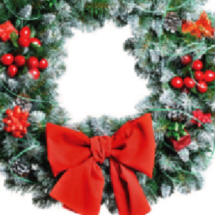 Christmas Wreath at Catholic Cemeteries