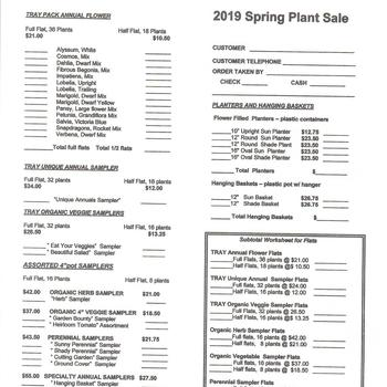 Knights of Columbus Annual Plant Sale