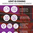 Lent Begins Wednesday, February 14th