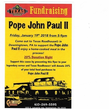 Dine and Donate at Texas Roadhouse