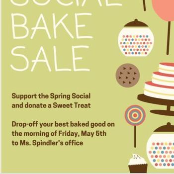 Spring Social Bake Sale drop-off