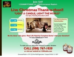 Emmanuel Radio to Light Christmas Candles For Your Loved Ones on December 6!!