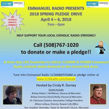 1230AM & 970AM EMMANUEL RADIO SPRING PLEDGE DRIVE APRIL 4-6