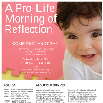 Pro-Life Morning of Reflection - June 29