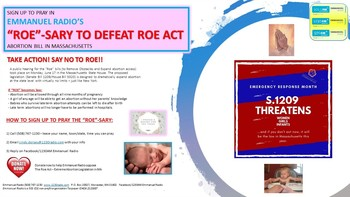 "Join The ""Roe""-Sary Prayer Campaign"