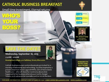 CATHOLIC BUSINESS OWNERS - GET YOUR TICKETS FOR BUSINESS BREAKFAST!!