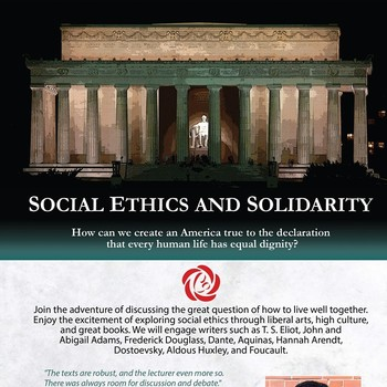Social Ethics and Solidarity Sessions Start October 5