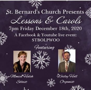St. Bernard's Church Christmas Lessons & Carols Event Dec. 18