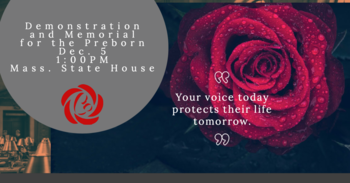 Join the Demonstration and Memorial for the Preborn Dec. 5