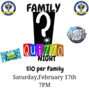 Family Quizzo Night - Sponsored by Sacred Heart School PTA