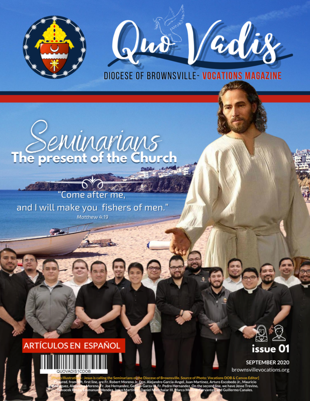 In creating this first sample issue of Quo Vadis Magazine, we, as seminarians, wanted to illustrate our identity as a publication by highlighting the unique and engaging themes of priestly and religious vocations