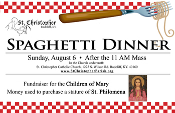 Children of Mary- Spaghetti Dinner Fundraiser